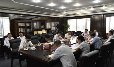 琼中县住建局局长郑拥军一行到联合资产公司洽谈业务合作